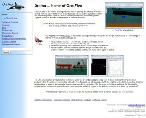 The history of Orcina - the new and improved 2004 website