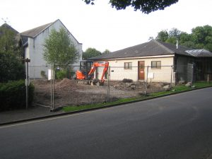 Breaking ground on the new extension, Sept 2013
