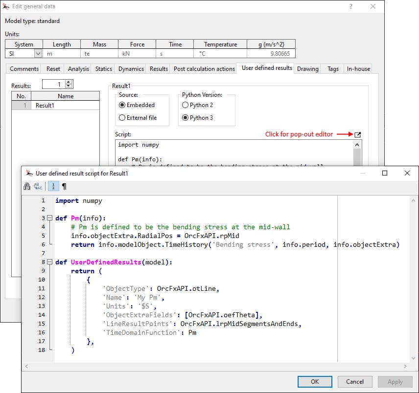 Embedded Python scripts